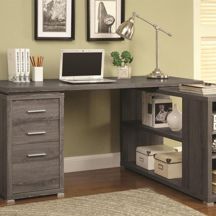 Gray Wood Office Desk