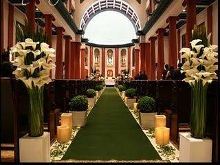 decoração de casamento na igreja branca - Pesquisa Google