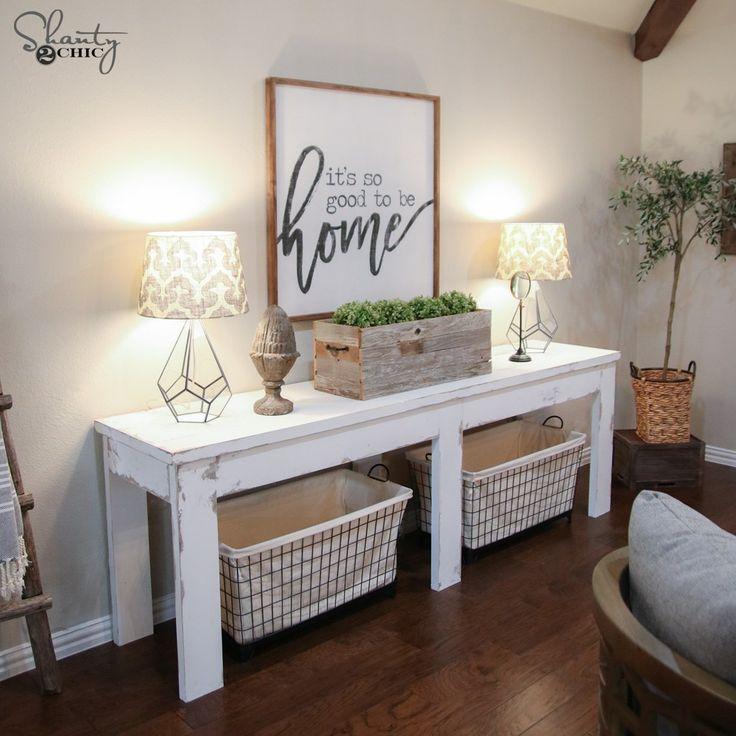$40 Farmhouse Console Table
