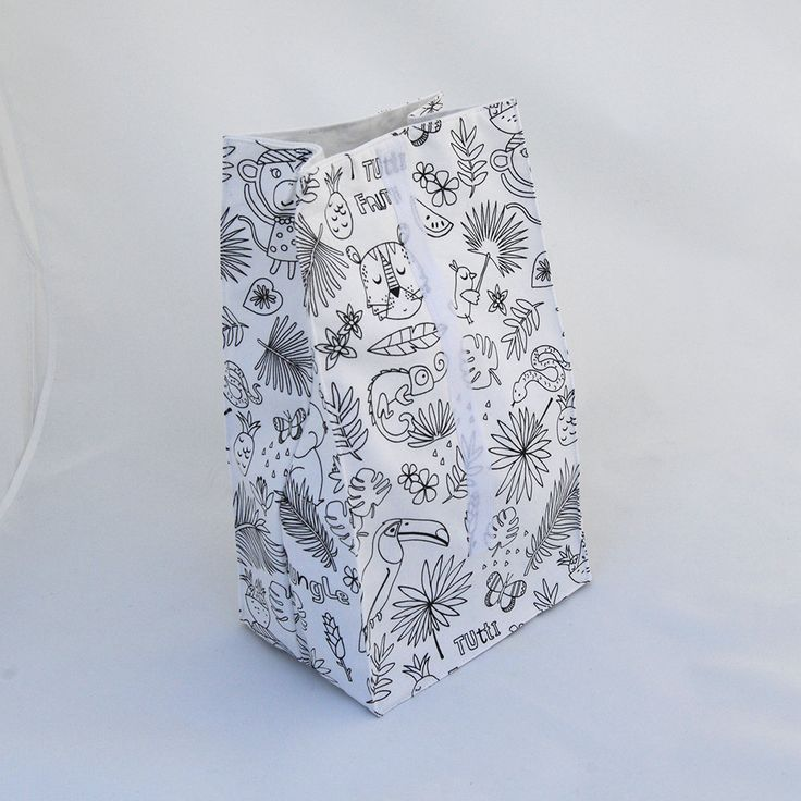 Lunch bag kids, color me lunch bag, eco friendly lunch bag, reusable lunch bag, adults lunch bag, back to school, unisex gift, wild pattern