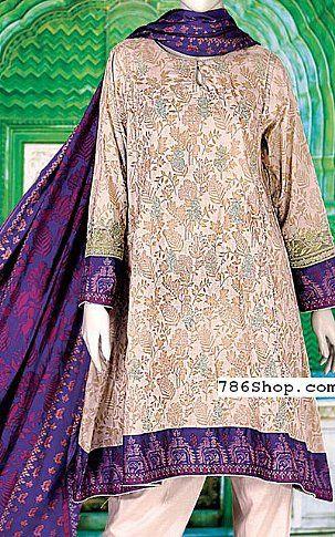 Ivory/Indigo Lawn Suit | Buy Junaid Jamshed Eid Collection Pakistani Dresses and Clothing online in USA, UK