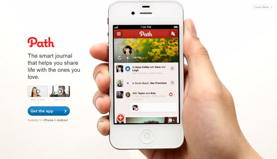 Path app landing page