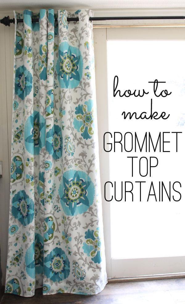diy curtains diy grommet top curtains house pinterest tops diy curtains and curtains. Black Bedroom Furniture Sets. Home Design Ideas