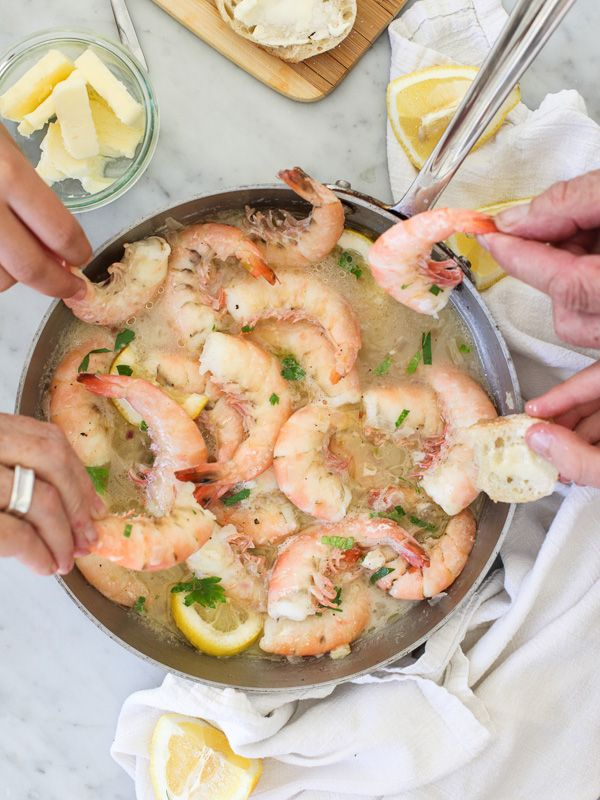 Appetizer - be sure you have crusty bread for dipping! Peel n Eat Beer Steamed Shrimp #recipe on foodiecrush.com