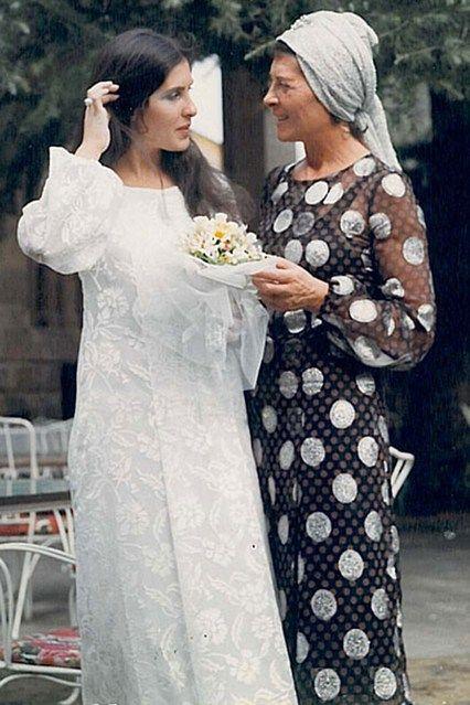 "Sonia Rykiel 1970 dress that I wore at my daughter Caroline's wedding in Florence."""