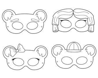 Patas para imprimir para colorear máscaras por HappilyAfterDesigns
