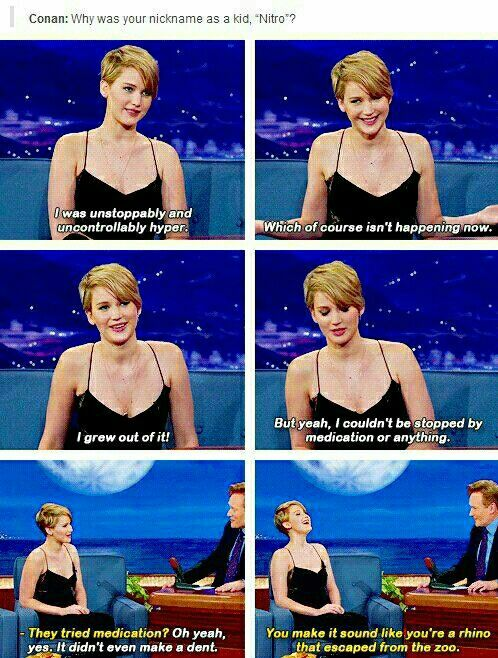 Jennifer Lawrence #funny