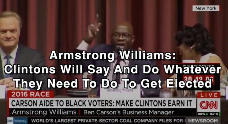 Armstrong Williams: Clintons Will Say And Do Whatever They Need To Do To...