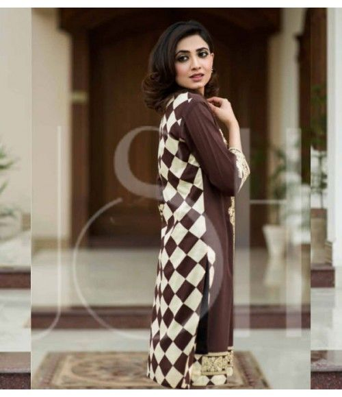 Plush Embroidered Kurti Collection 2015 Vol-1 by Riaz Arts EK-03