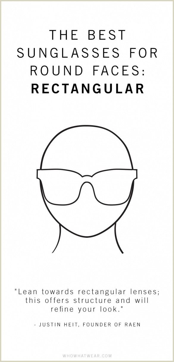 The best sunglasses for round faces are rectangular