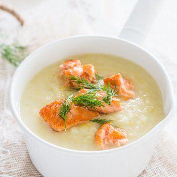Crème de chou-fleur au saumon fumé