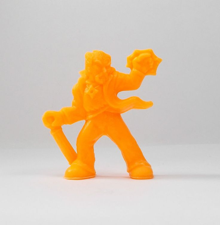 Monster In My Pocket - Series 2 - 51 Warlock - Neon Orange - Mini Figure