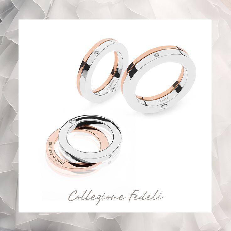 Incidi una #romantica dedica segreta negli #anelli della Collezione Fedeli!