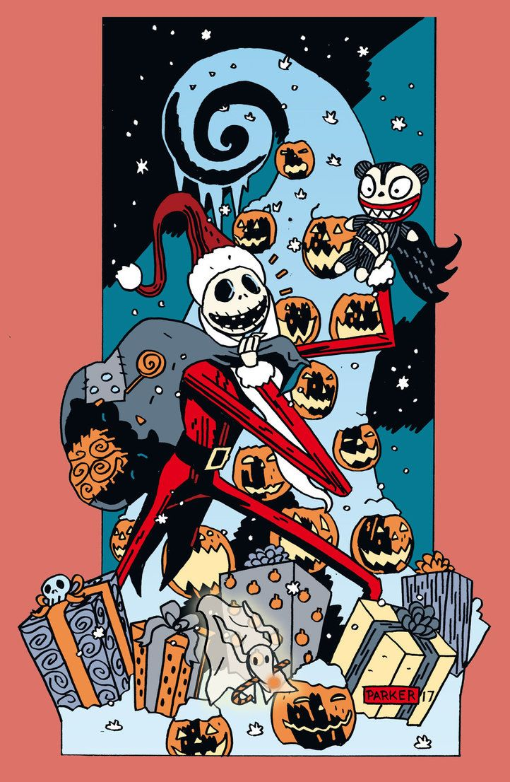 Have A Merry Christmas May It Be A Horrifyingly Good Time Not Been Posting Much Aiming Nightmare Before Christmas Tim Burton Art The Night Before Christmas