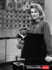 A pregnant Deborah Norville, Today Show host
