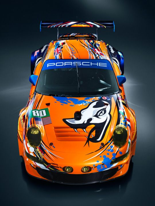 motomania  /  Flying Lizard 911 GT3 RSR, ready for the 24 Hours of Le Mans