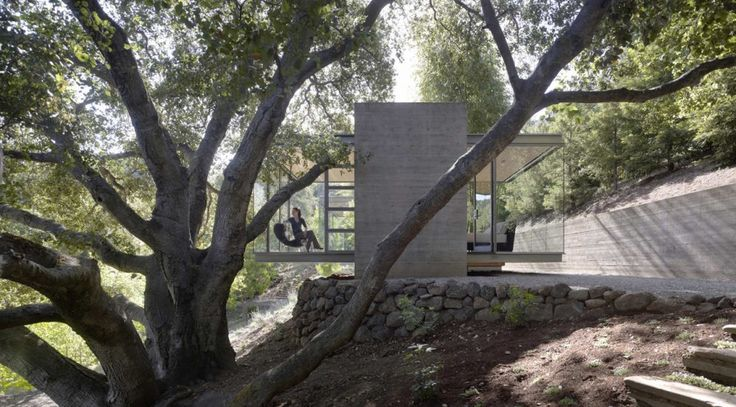Balance at Tea Houses in Silicon Valley, California by  Swatt | Miers Architects: Interiors Design, Arches, Architecture, Swatt Mier Architects, Tea Houses, Glasses Boxes, Houses Swatt, Teas Houses, Glasses Houses