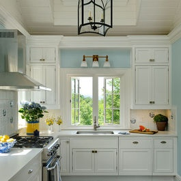 Traditional Home Blue Kitchens Design, Pictures, Remodel, Decor and Ideas - page 9