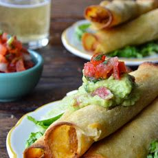 Baked Chicken and Cheese Taquitos Recipe