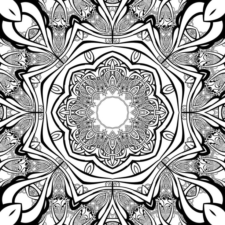 square mandala coloring pages - photo#6