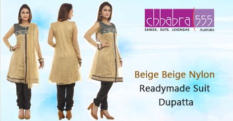 Addition of over 25 new designs every day, select Beige Beige Nylon Readymade ‪‎Suit Dupatta‬ in @ $131.95 AUD from ‪‎Chhabra555‬ that will give you stunning look on any occassion in ‪‎Australia‬.