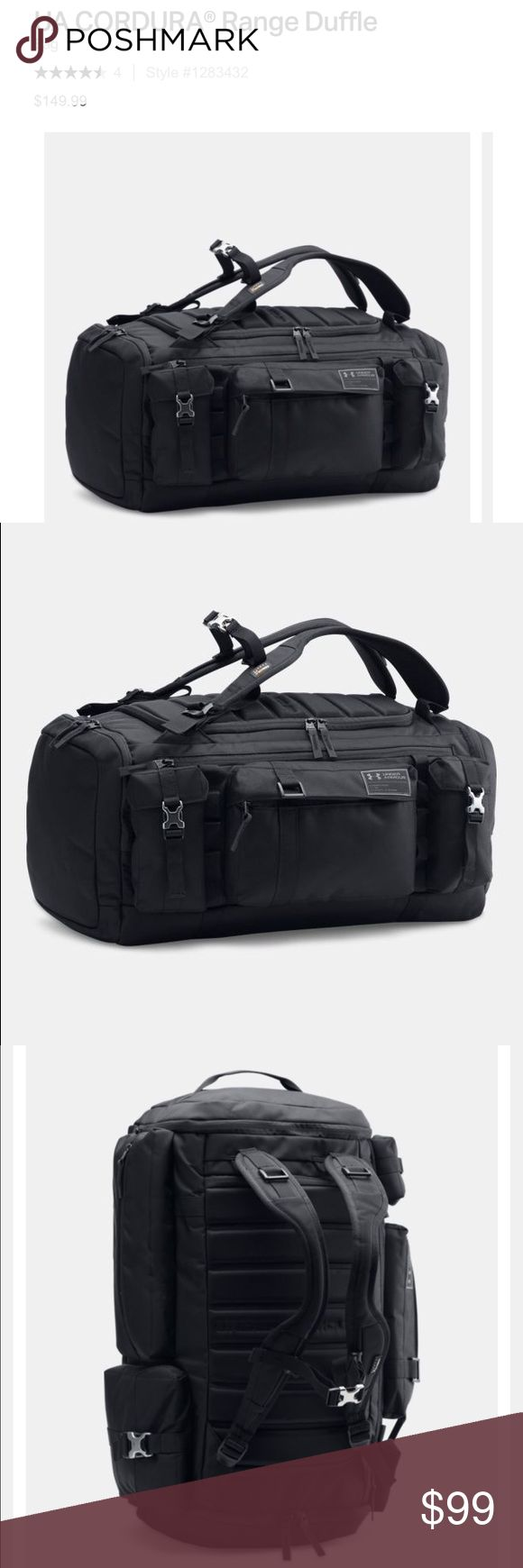 Under Armour Black Cordura Duffle Backpack Bag Under Armour Cordura Range black backpack duffle bag, brand new with tags! Under Armour Bags