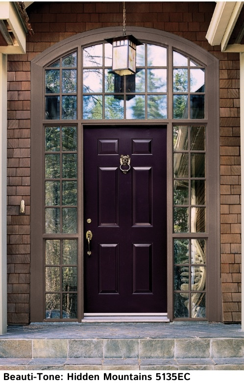 This color will be gorgeous with our grey siding/ green trim. Spring project.  http://www.mariakillam.com/2012/04/ten-best-front-door-colours-for-your-house.html