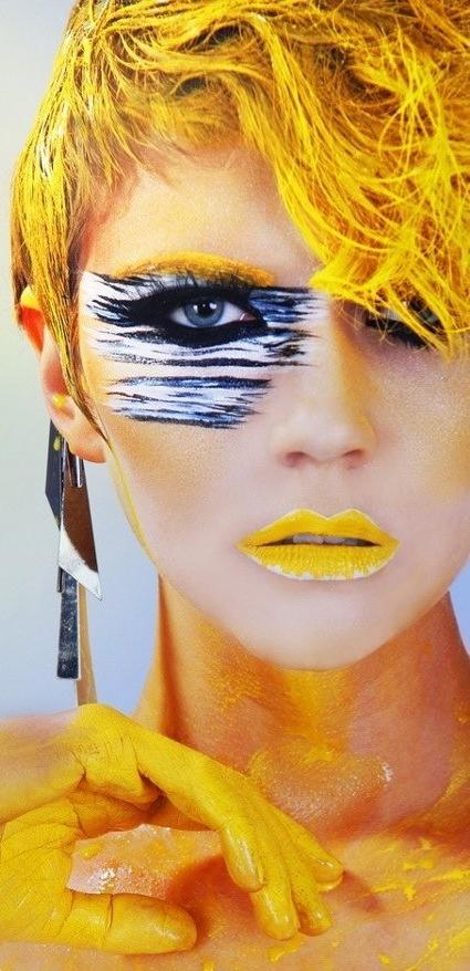 Crazy makeup via www.Facebook.com/WildWickedWomen