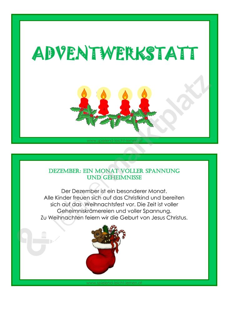 141 best Weihnachten Unterrichtsmaterialien images on Pinterest ...