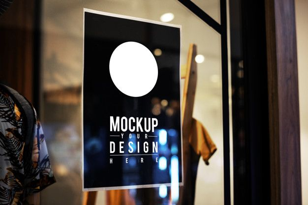 Download Poster Sign Mockup On A Window For Free Sign Mockup Poster Mockup Free Mockup