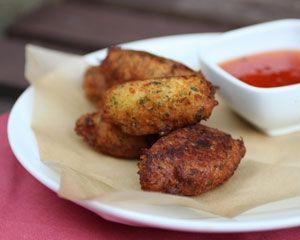 Salt cod cakes with piri-piri dip recipe