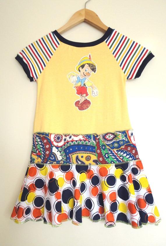 Karnival Kids Classic Upcycled Dress Pinocchio   by KarnivalKids, $38.00: Karniv Kids, Kids Stuff, Kids Classic