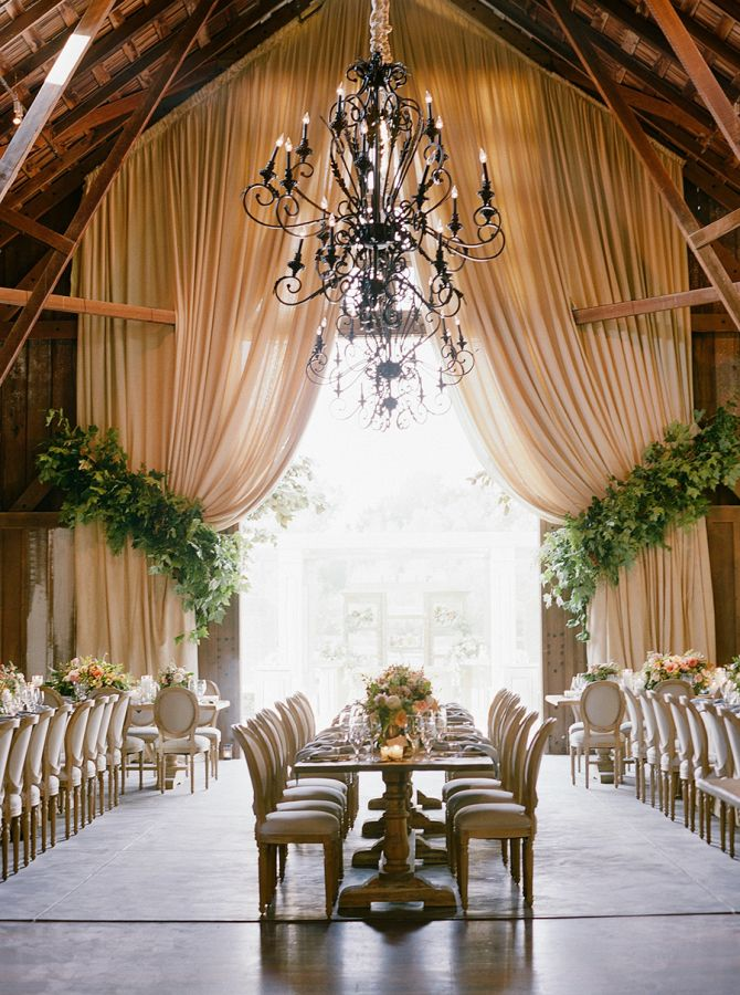 Equestrian-inspired wedding in a barn: http://www.stylemepretty.com/2017/01/30/a-wedding-in-the-woods-with-nods-to-the-brides-equestrian-roots/ Photography: Joel Serrato - http://joelserrato.com/
