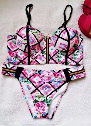 Kup mój przedmiot na #vintedpl http://www.vinted.pl/damska-odziez/stroje-kapielowe-bikini/17338483-stroj-kapielowy-dwuczesciowy-bikini-top-kwiaty-l-xl