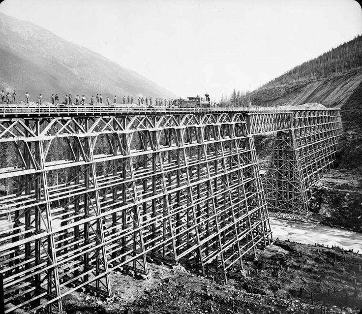 Canadian Pacific Railway bridge Mountain Creek, British Columbia, ca. 1880-1890