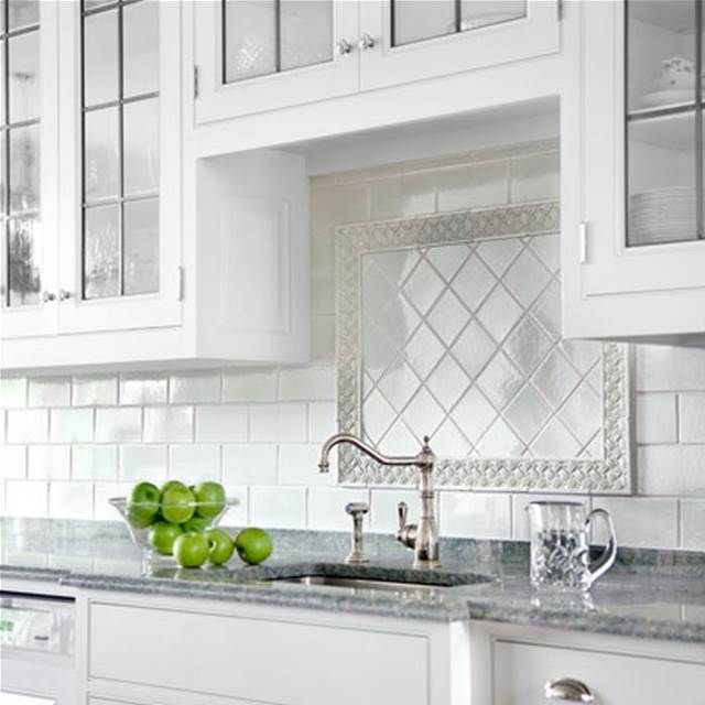 Image result for kitchen inspiration backsplash behind stove with white  subway tiles