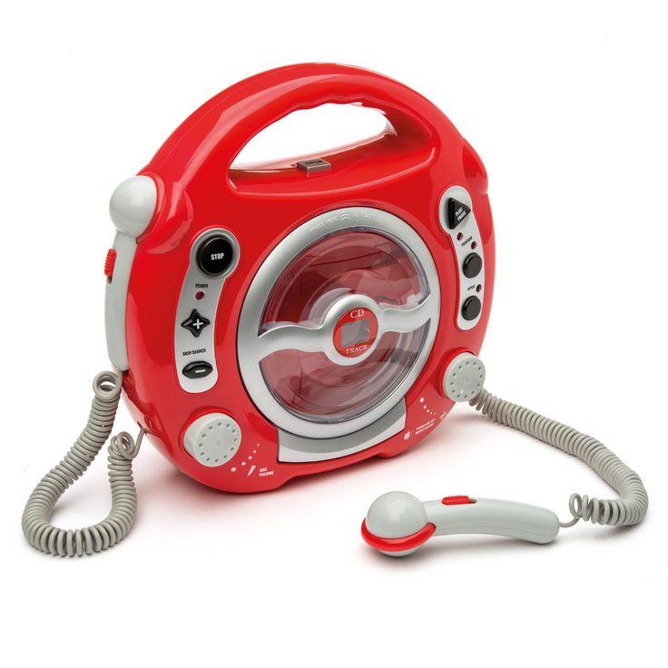 Ce lecteur CD avec ses 2 micros accompagnera vos enfants partout grâce à sa poignée très pratique. Ils pourront écouter leur musique préférée et chanter pour l'accompagner.