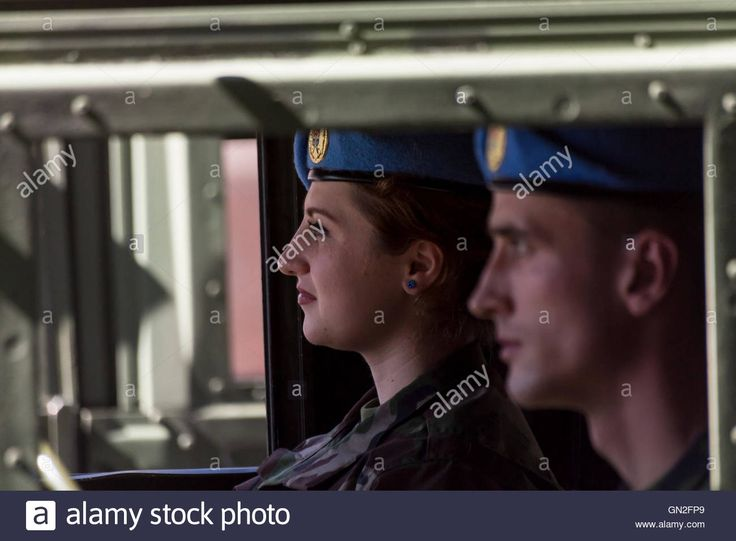 Chisinau, Moldova. 27th August 2016. Military driving on the Stefan cel Mare si…