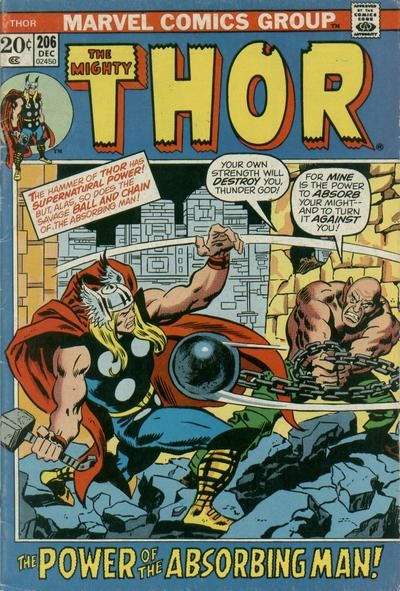 Thor #206. The return of the Absorbing Man