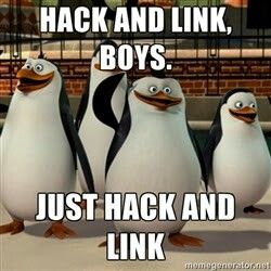 Hack and link, boys. Just hack and link. #ingress