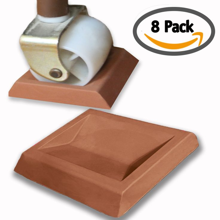 iPrimio - Newest Bed Stopper / Furniture Stopper (8 Pieces) by iPrimio. Universal Design fits Most Wheels. Solid Rubber. Won't Scratch / Leave Marks on Floors. Patent Pending.