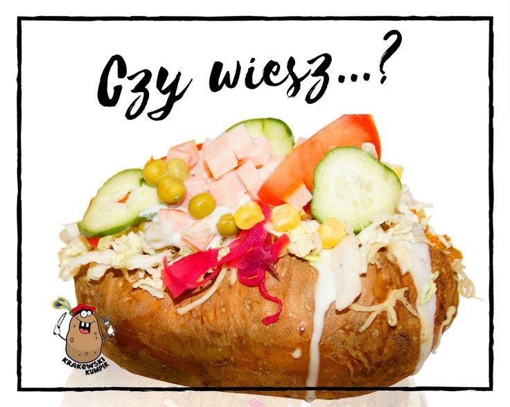 ☛ CZY WIESZ, ŻE... ?  Czy wiesz, że największy ziemniak świata ważył 5,5 tony i mierzył niespełna 4 metry?  #krakowskikumpir #kumpir #bar #pieczonyziemniak #ziemniak #potato #bakedpotatos #kraków #krakow #rzeszów #rzeszow #warszawa #stolica #katowice #polska #poland #googfood #food #jedzenie #zawsześwieże #wakacje #jesień #autumn #nachandrę #blues #online #długiewieczory #czywiesz