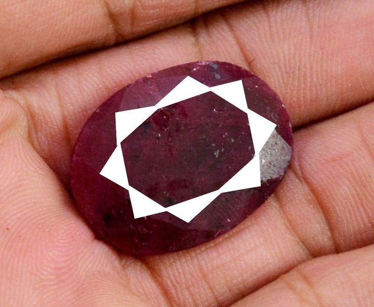 40ct Natural Oval Shape Rare Blood Red Ruby Faceted Loose Gemstone on ebay #Unbranded #Loose #Faceted #Ruby Gemstone From India