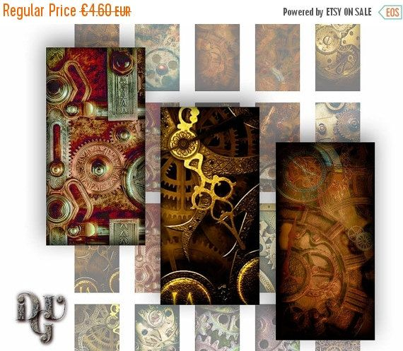 35% OFF SALE STEAMPUNK Gears and Mechanism by DreamUpGraphic