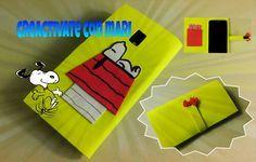 Cómo hacer una funda de móvil de Snoopy con goma eva