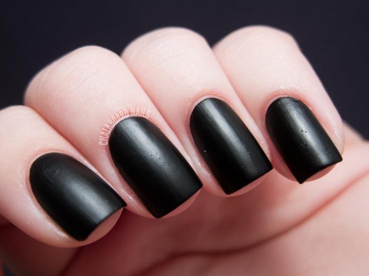 "Chalkboard Nails: Cult Nails ""Fetish"" (rubberized/leather matte finish black)"