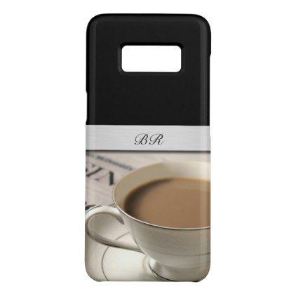 Monogram Coffee Theme Case-Mate Samsung Galaxy S8 Case - coffee custom unique special
