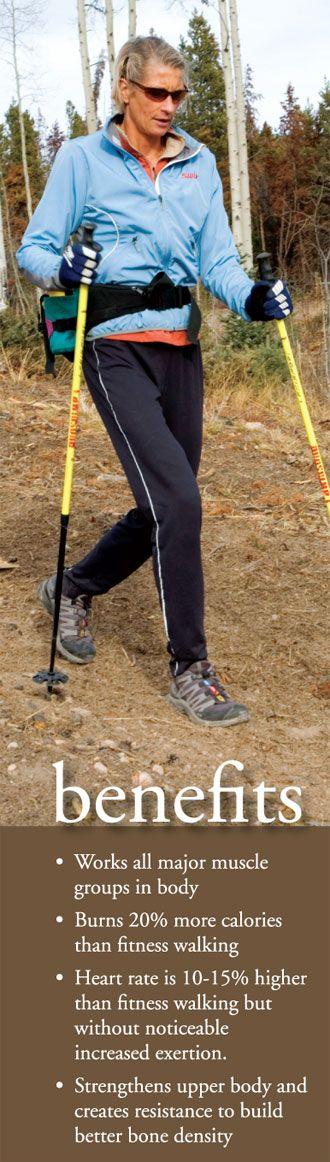 Nordic Walking Benefits, ja det är vad de kallar stavgång over there.