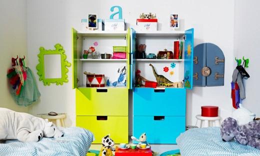 Barnmöbler och barnrumsinredning - Barnens IKEA Förvaringsmöbler fast kanske m luckor i ljust trä