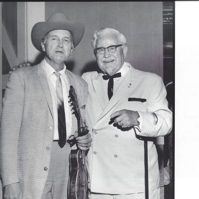 It was in 1966 that for the first time two Kentucky Colonels meet backstage at the Grand Ole Opry. Bill Monroe became an honorary Kentucky Colonel in 1966 and Harland Sanders became one in 1935.